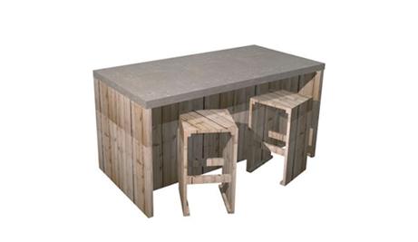 Solo keukeneiland met betonstuc